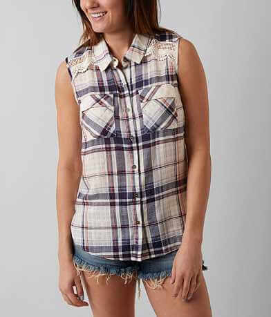 Jolt Plaid Sleeveless Shirt