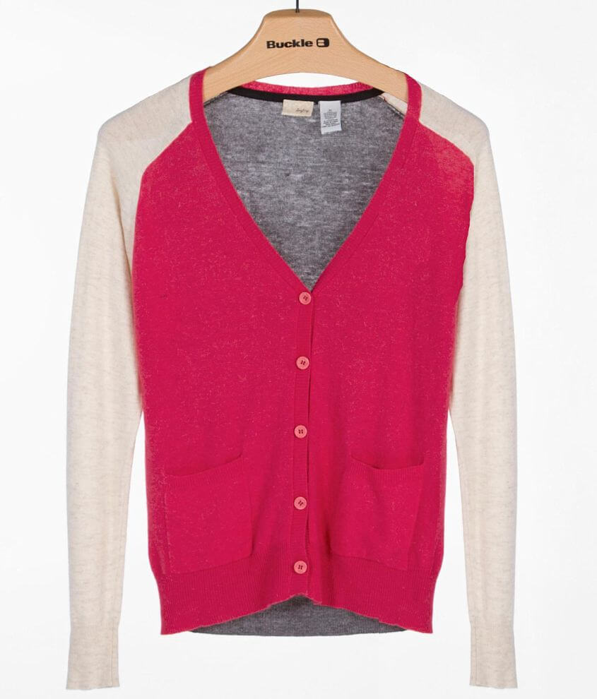 Daytrip Color Block Cardigan Sweater front view