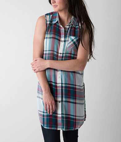 Jolt Plaid Tunic Shirt