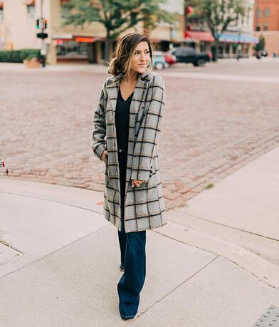 Jolt Plaid Peacoat