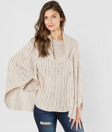 mystree Cowl Neck Poncho
