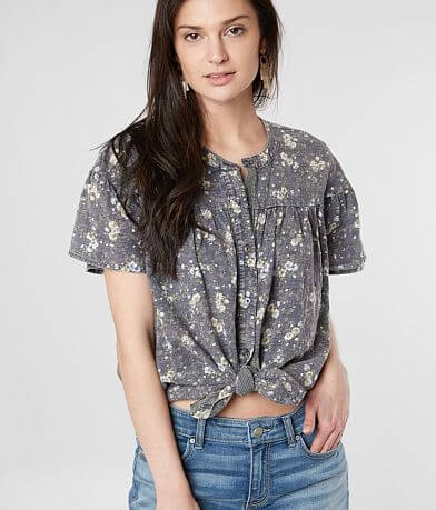 mystree Washed Floral Shirt