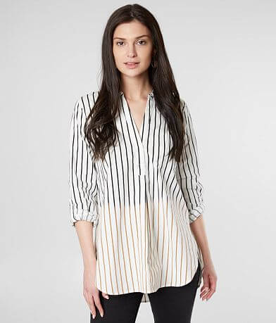 mystree Striped OmbreTunic Top