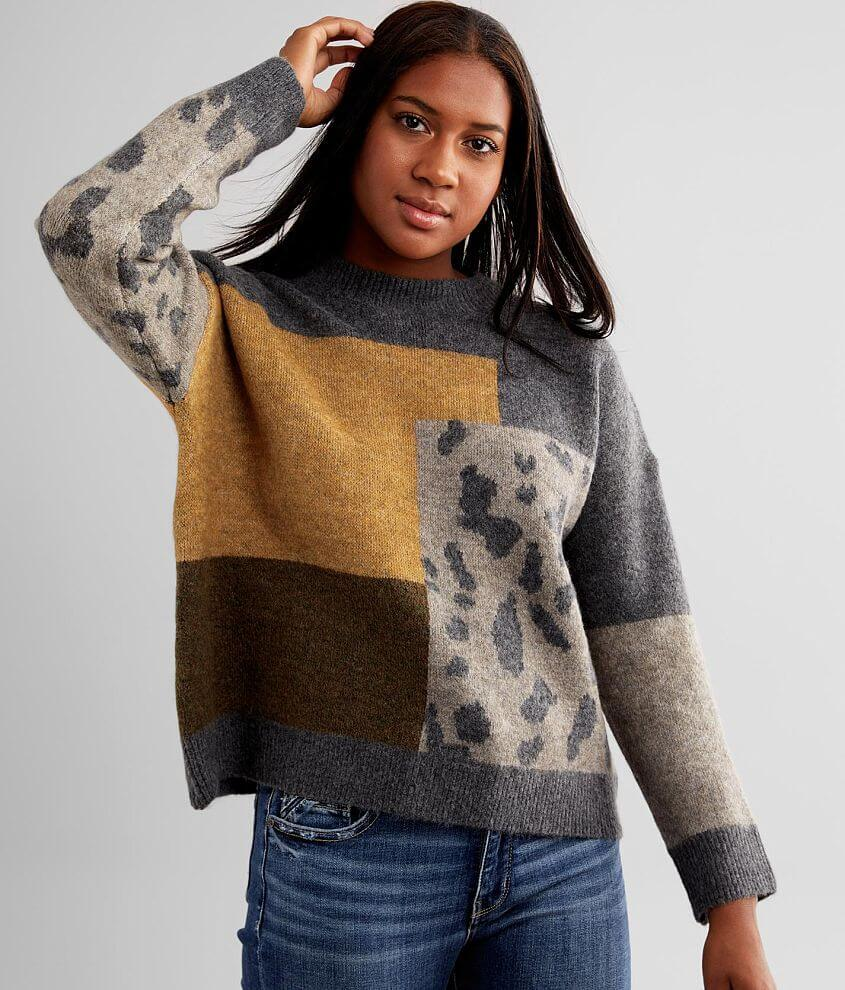 mystree Color Block Sweater front view