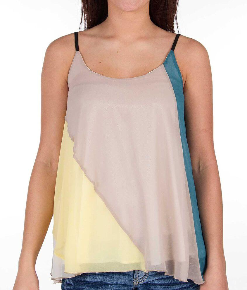 Mystree Color Block Tank Top front view