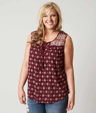 Daytrip Wallpaper Tank Top - Plus Size Only