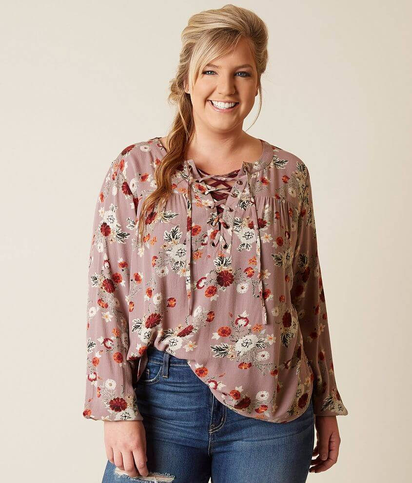 2bf55e4f77b Daytrip Floral Top - Plus Size Only - Women s Shirts Blouses in ...