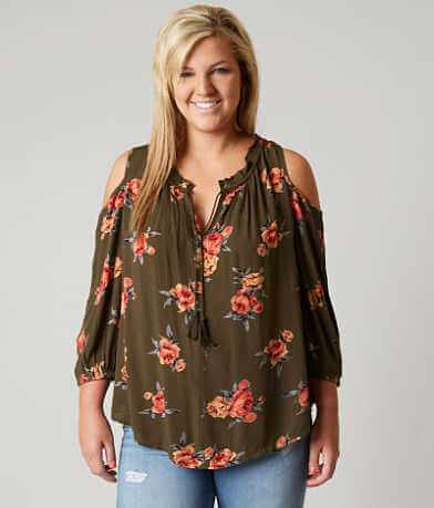 Daytrip Cold Shoulder Top - Plus Size Only
