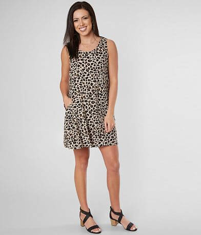 Daytrip Cheetah Print Sleeveless Dress