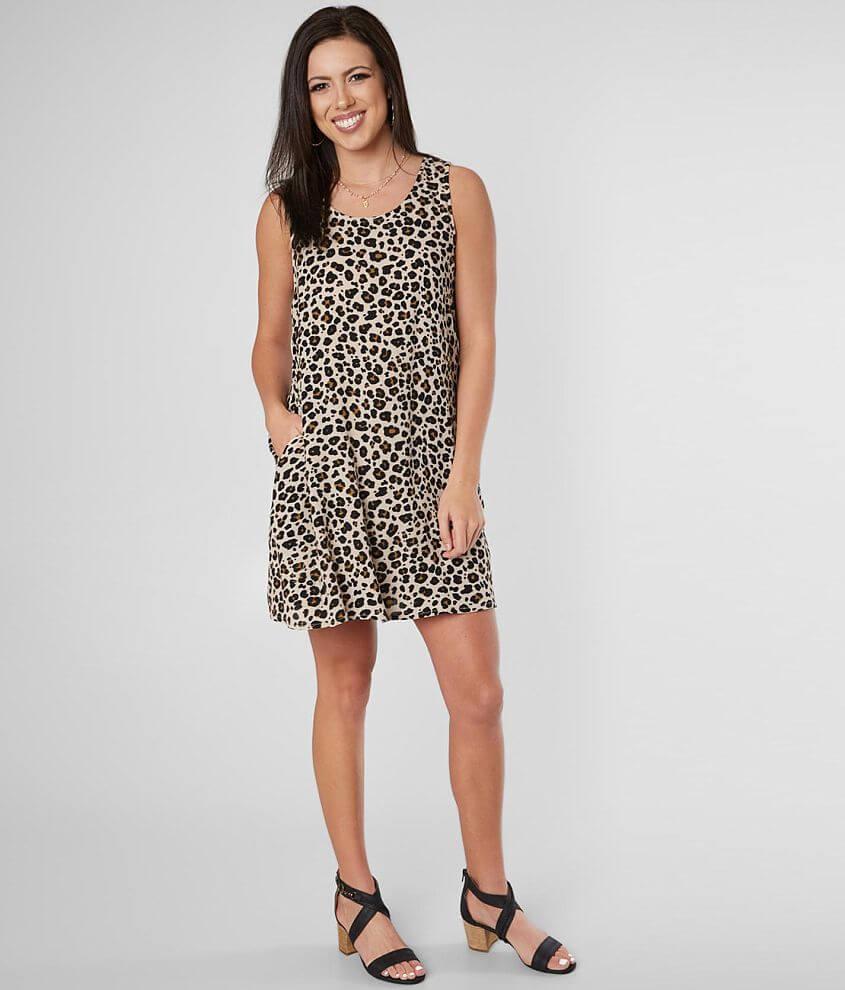 Daytrip Cheetah Print Sleeveless Dress front view