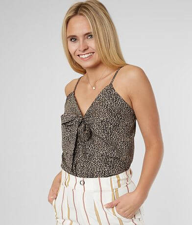 Daytrip Animal Print Chiffon Bodysuit