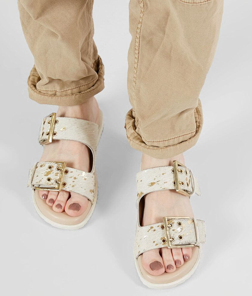 905f973278a3 Naughty Monkey Hey Pony Leather Sandal - Women's Shoes in White | Buckle