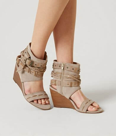 Naughty Monkey LaSalle Leather Wedge Sandal