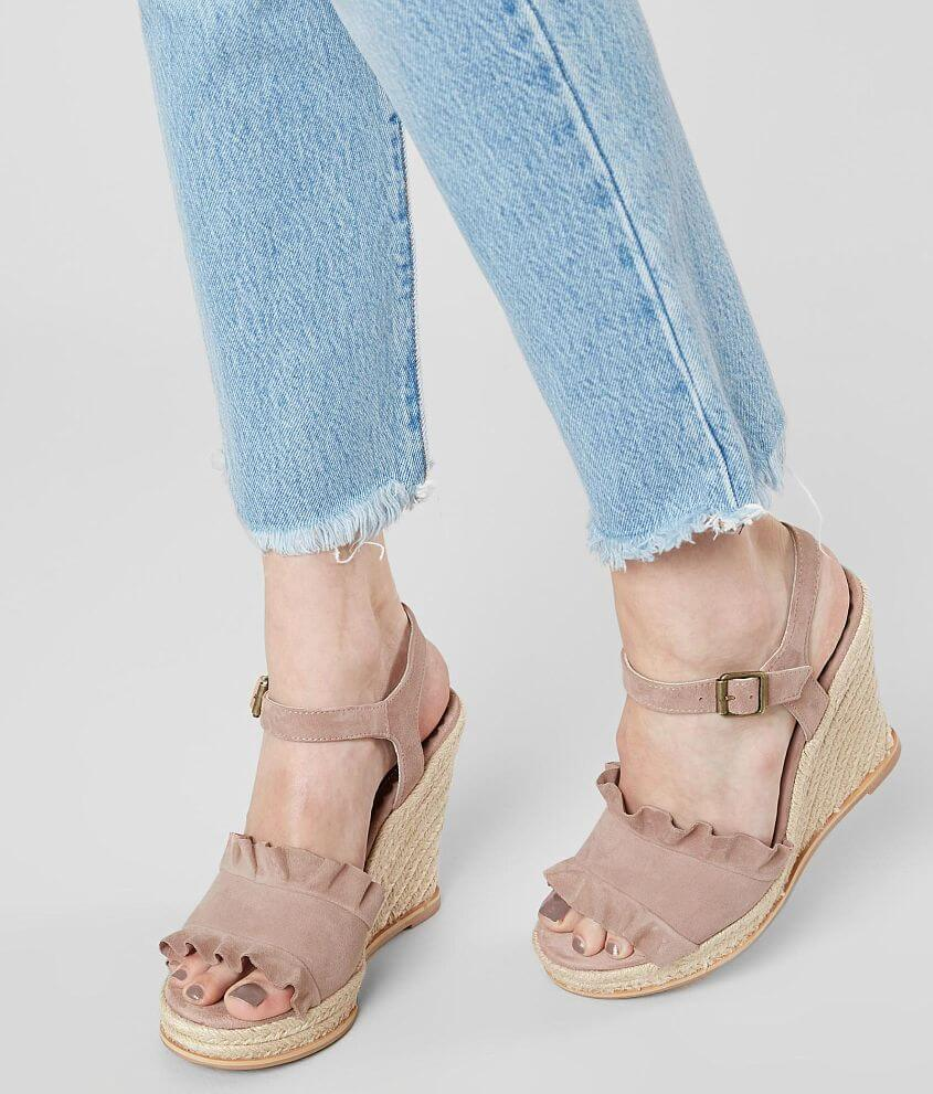 Naughty Monkey Love Leather Wedge Sandal front view