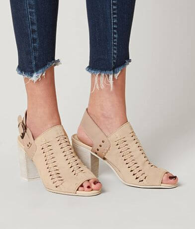 Naughty Monkey Montana Joe Leather Heeled Sandal