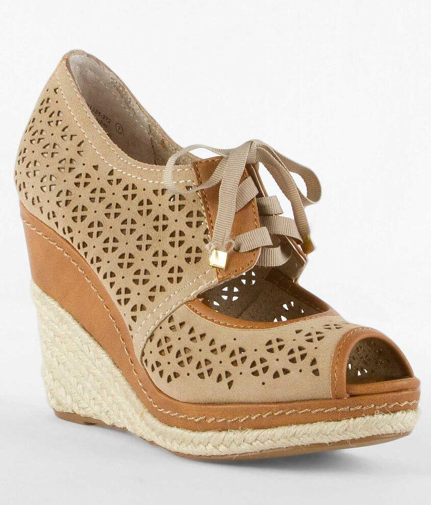 Naughty Monkey Southern Sunrise Espadrille Wedge front view