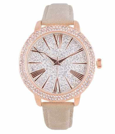 tone sparkly genuine crystals itm henley silver really watches branded white ladies watch