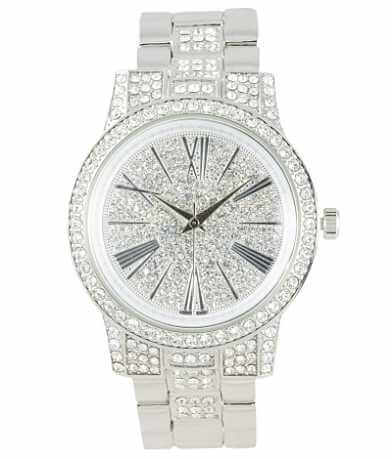 watches watch crystal women stainless s womens jewelry fossil product free sparkly glitz steel