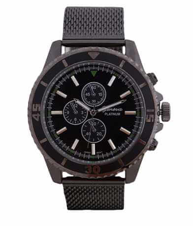 Geneva Platinum Gunmetal Watch