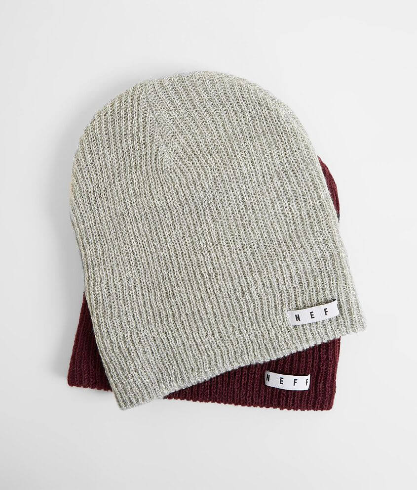ba597638b42 Neff Two Pack Daily Beanies - Men s Hats in Grey Heather White Port ...
