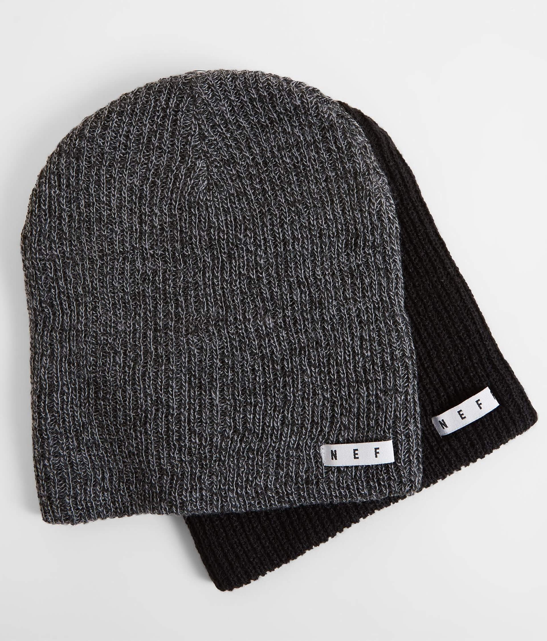 Neff Two Pack Daily Beanie - Men s Hats in Black Grey Black  9fb5820761f
