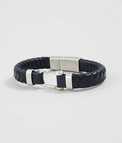 1913 Braided Leather Bracelet