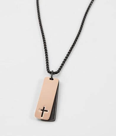 1913 Cross Dog Tag Necklace