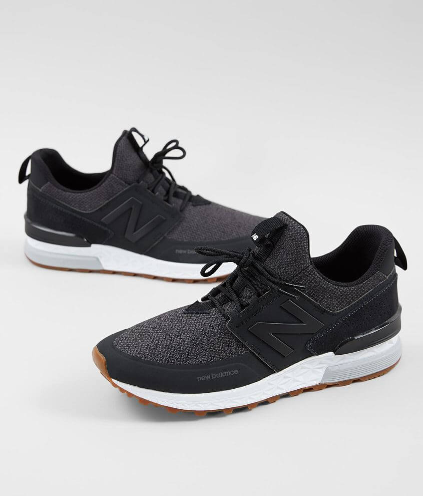 low priced 5b582 d37ac New Balance 574 Sport Shoe - Men's Shoes in Black Magnet ...