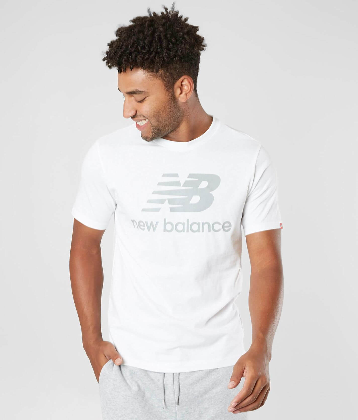 New Balance Lifestyle Stacked T-Shirt - Men's T-Shirts in White ...