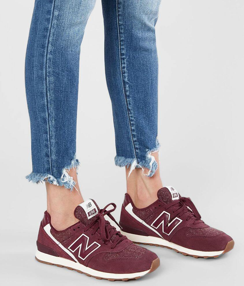 0f47c155bb0e4 New Balance 696 Leather Shoe - Women's Shoes in Burgundy Sea Salt ...
