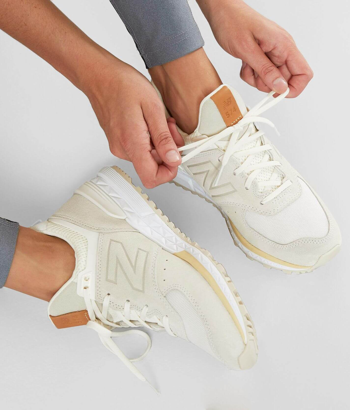 New Balance 574 Sport Shoe - Women's Shoes in Sea Salt Vanilla ...