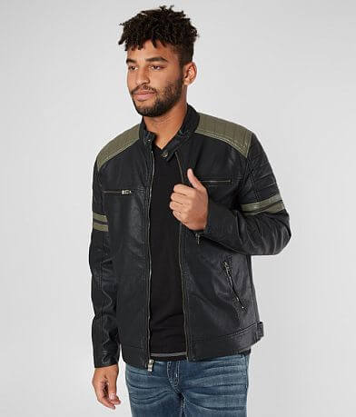 X-Ray Jeans Pieced Faux Leather Jacket