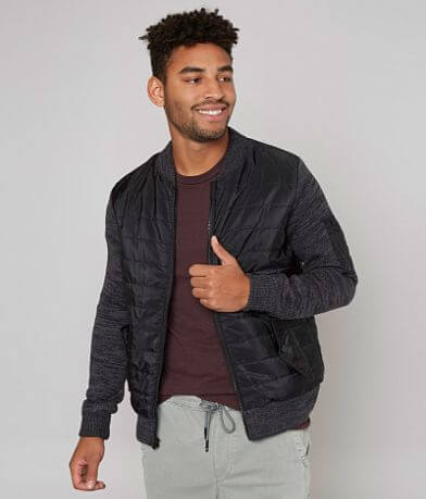X-Ray Jeans Mixed Sweater Jacket