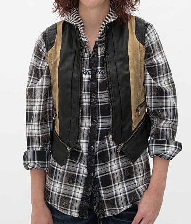 BKE Faux Leather Vest