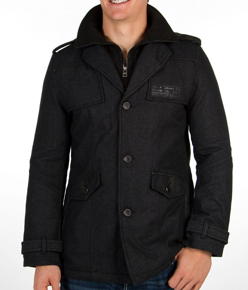 Buckle Black Respectable Coat front view