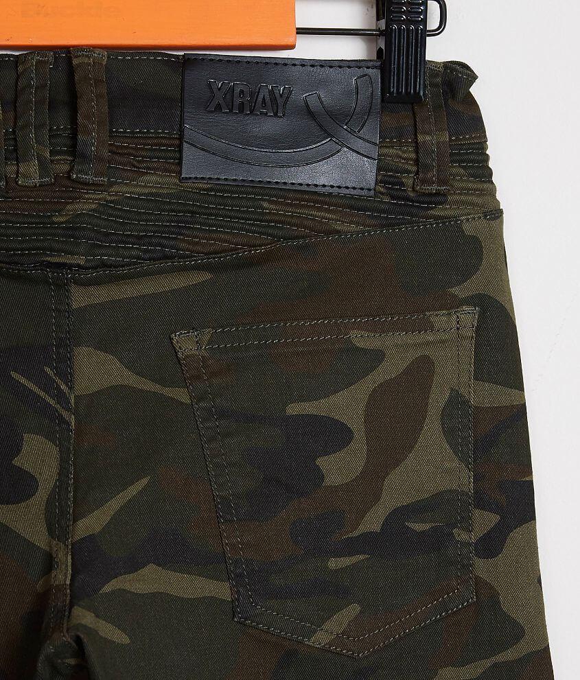 360c8e86f4 Boys - X-Ray Classic Moto Stretch Jeans - Boy's Jeans in Olive Camo ...