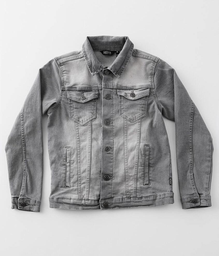 Boys - Nova Industries Washed Denim Stretch Jacket front view