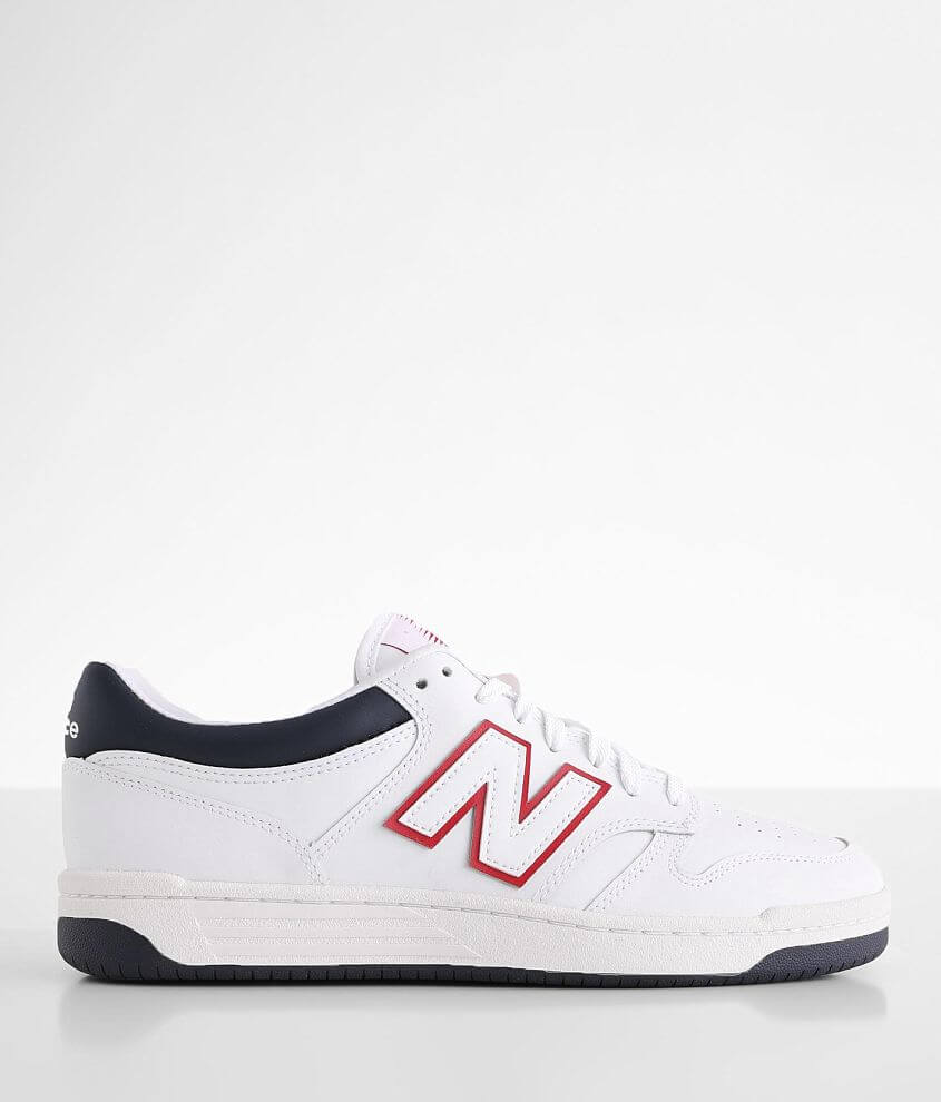 New Balance 480 Lifestyle Leather Shoe - Men's Shoes in White Navy ...