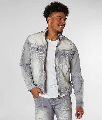 Smoke Rise® Acid Wash Denim Stretch Jacket