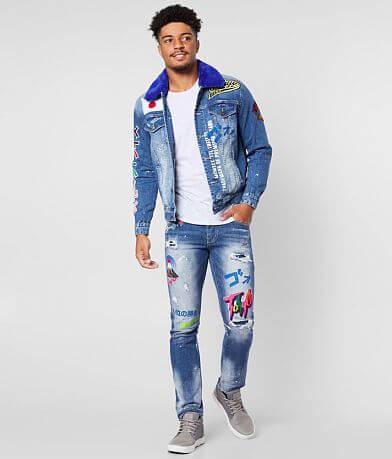 Smoke Rise® Ferry Blue Denim Stretch Jacket