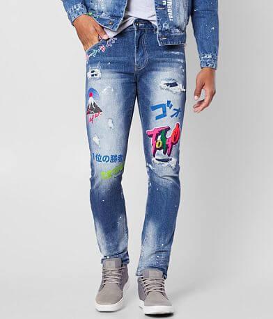 Smoke Rise® Ferry Blue Taper Stretch Jean