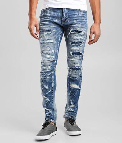 Smoke Rise® Brush Blue Taper Stretch Jean