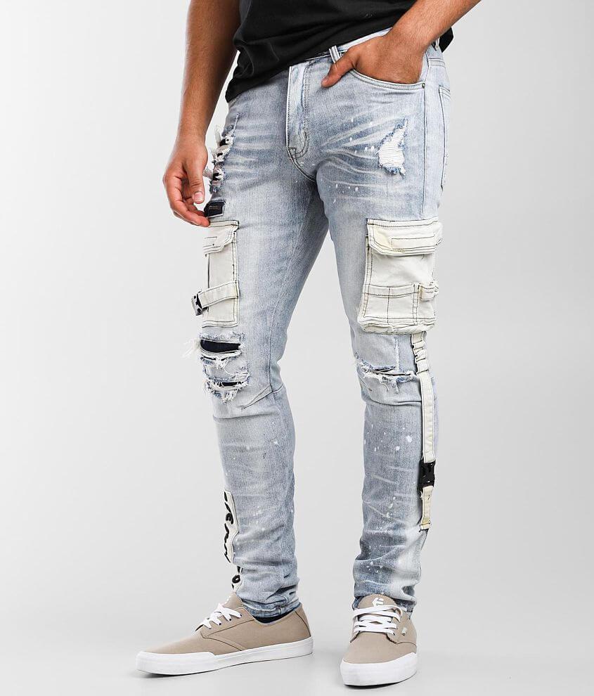 Smoke Rise® Malibu Taper Cargo Stretch Jean front view