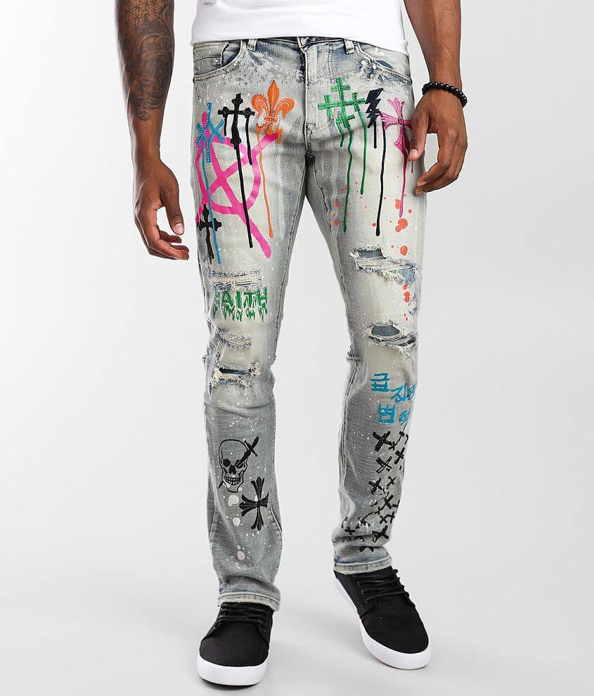 Smoke Rise® Bowery Taper Stretch Jean front view