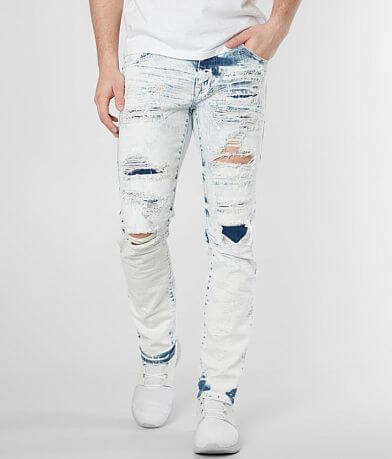 Smoke Rise® Bleached Taper Stretch Jean