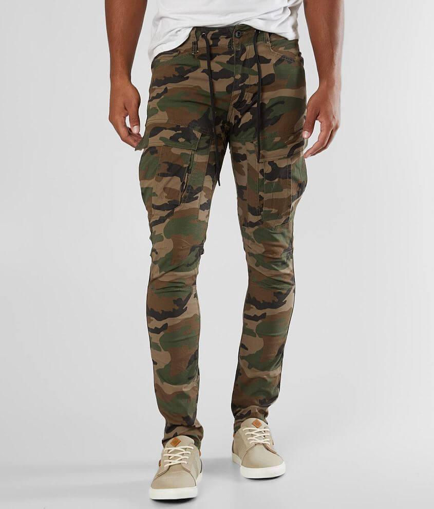 Cargo Pants Cinched Waist Front Flap