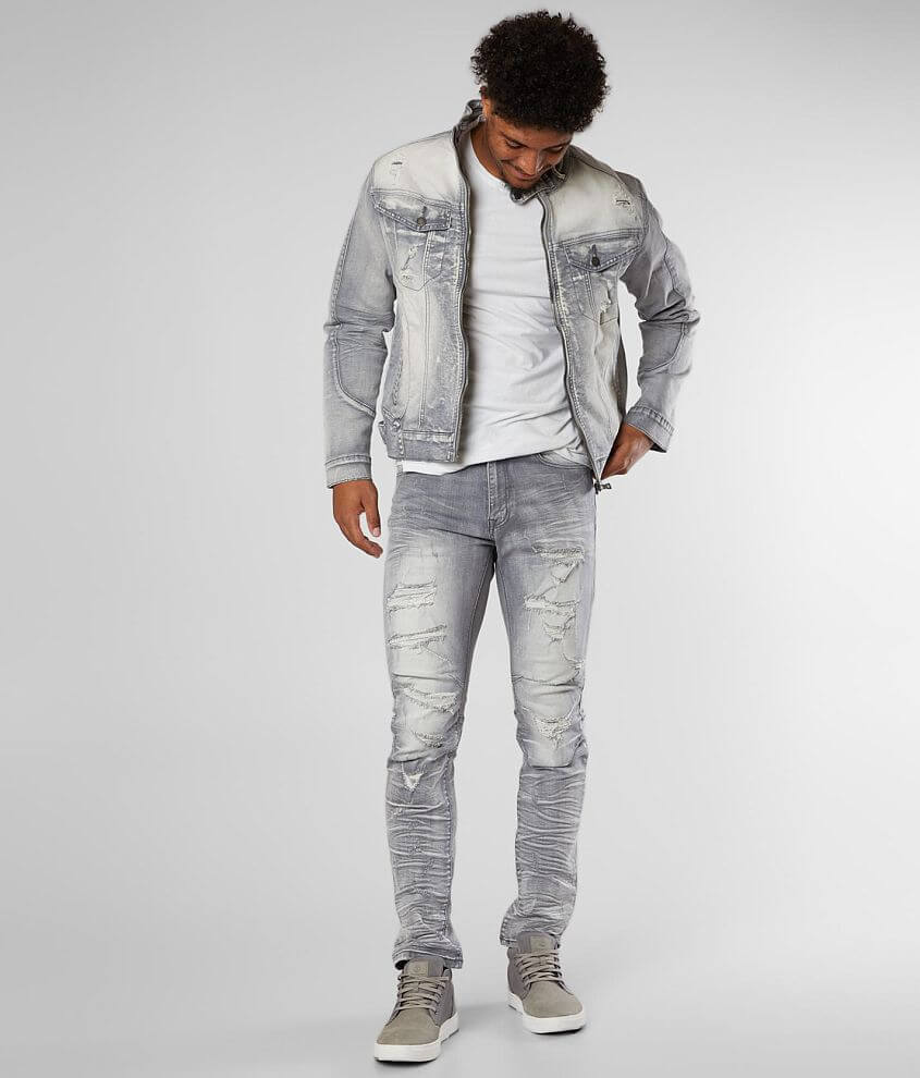 Smoke Rise® Washed Taper Stretch Jean front view