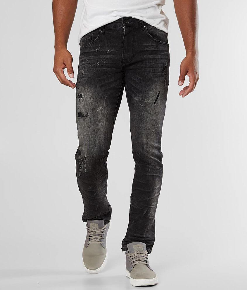 Smoke Rise® Splatter Taper Stretch Jean front view