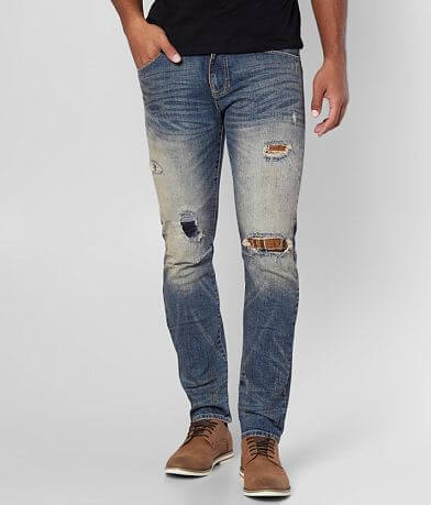 Smoke Rise® Destructed Taper Stretch Jean