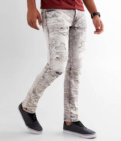 Smoke Rise® Moto Taper Stretch Jean